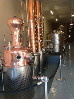 Part of the distilling process in Oaklee Distilling.