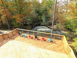 Deck overlooking the falls at Rocky Falls Park
