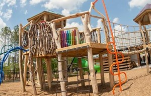 Playground built by North Carolina based Asheville playgrounds.